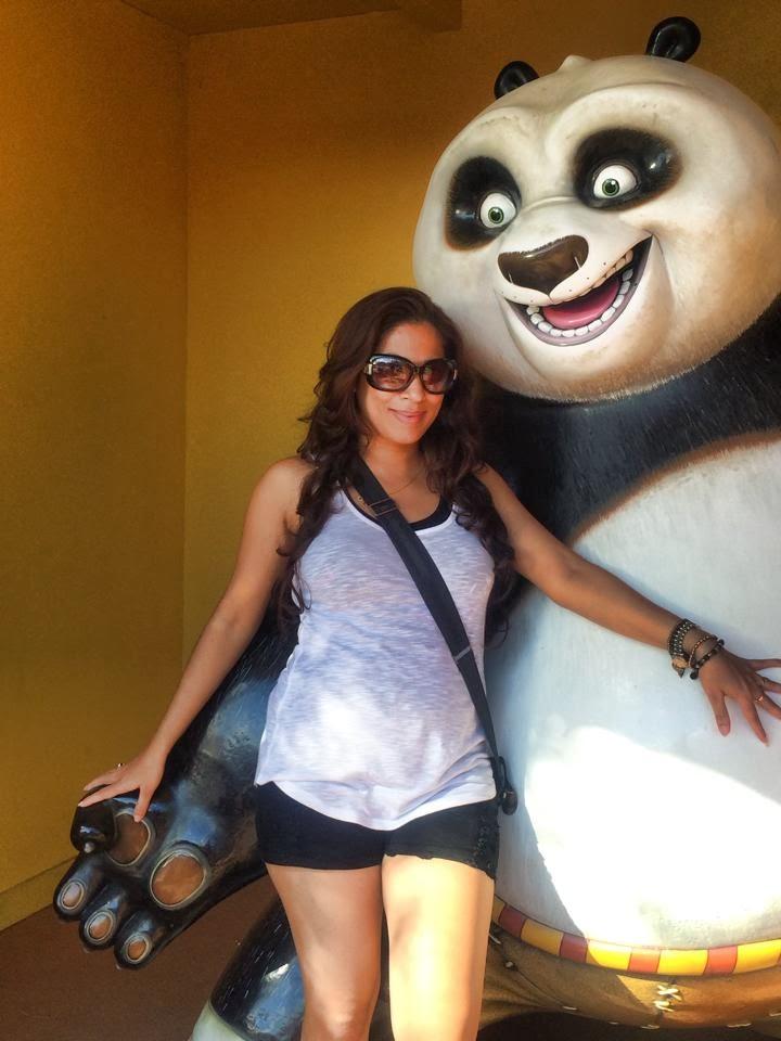 hot Anusha Rajapaksha with kung fu panda