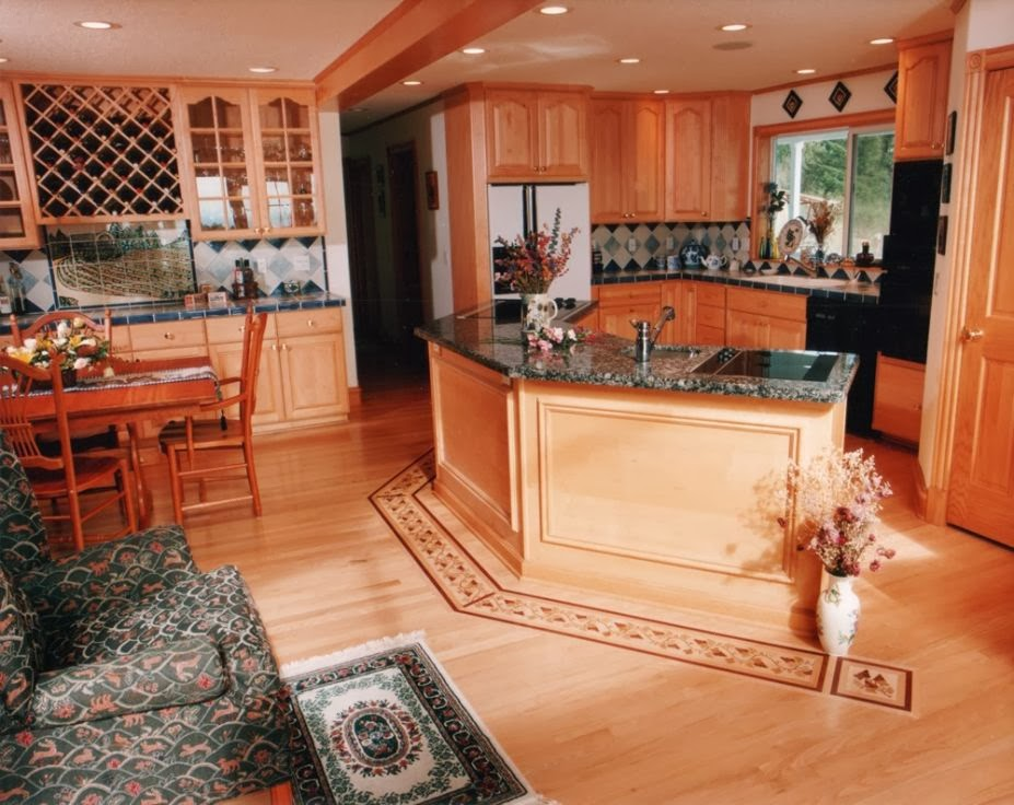 The best interior simple kitchen flooring ideas for Hardwood floor tile kitchen