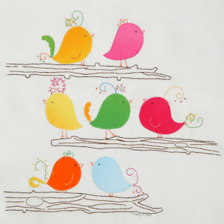 meags and me Quiltmaker 100blocks Bird Applique and Embroidery Block