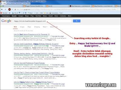 searching entry terkini dalam google