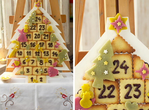 Calendario de Adviento y Árbol de Navidad...¡de galletas!