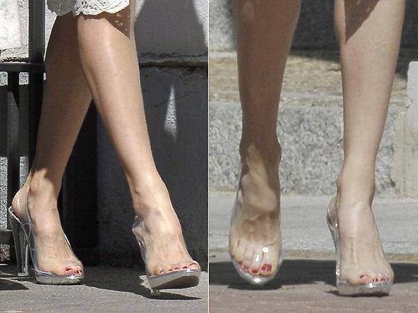 zapatos de vinilo transparentes