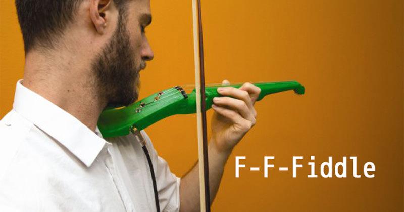 3Dプリンターでエレキヴァイオリンが出力可能、そしてもちろん演奏も!