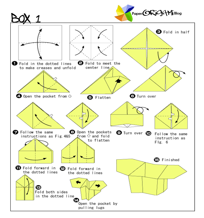 Traditional Origami: How To make Boxes Origami | Paper ... - photo#31