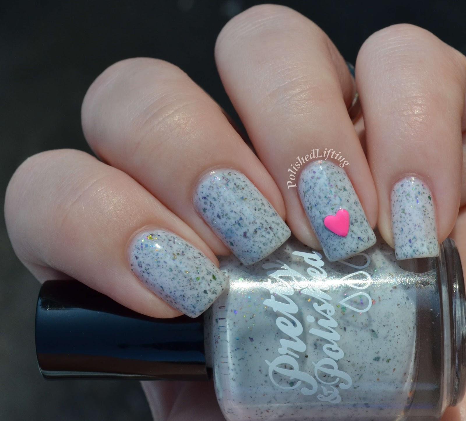 Pretty & Polished Maleficium Firecracker Lacquer neon nail stud hearts