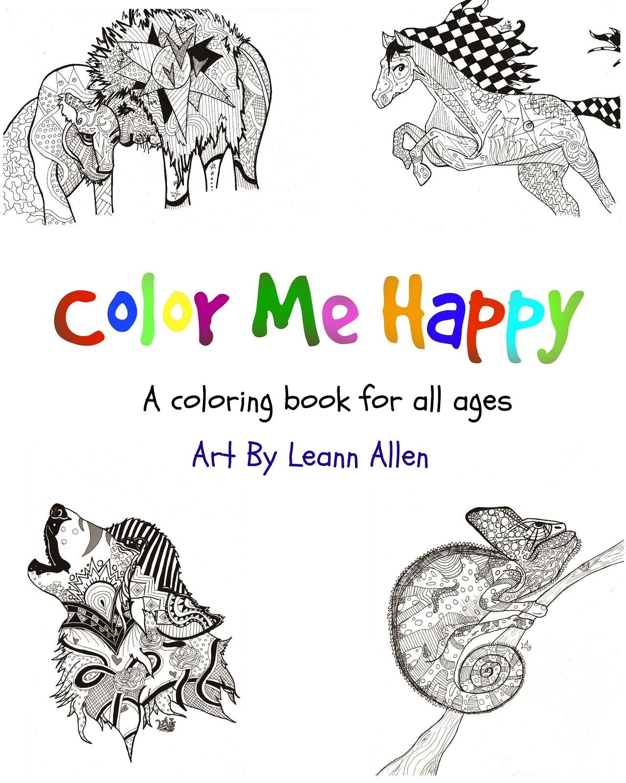 Color Me Happy Volume 1- Animals
