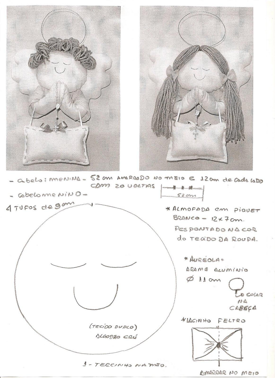 Aparador Ouro Branco Brilhantes ~ Ateli u00ea Simone Rodrigues Anjinho enfeite de porta com molde retirado do Sabor de Vida portal