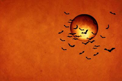 bats moon orange