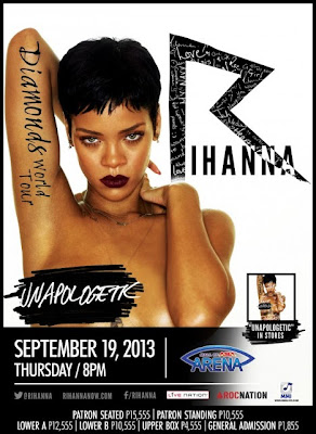 Rihanna To Perform Live in Manila, Philippines on September 19, 2013