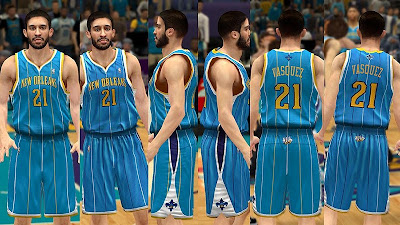 NBA 2K13 New Orleans Hornets Away Jersey Patch