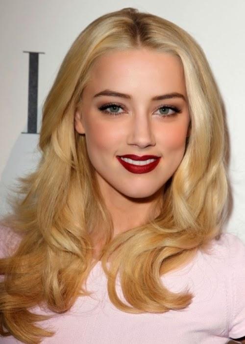 Amber Heard Buttery blonde