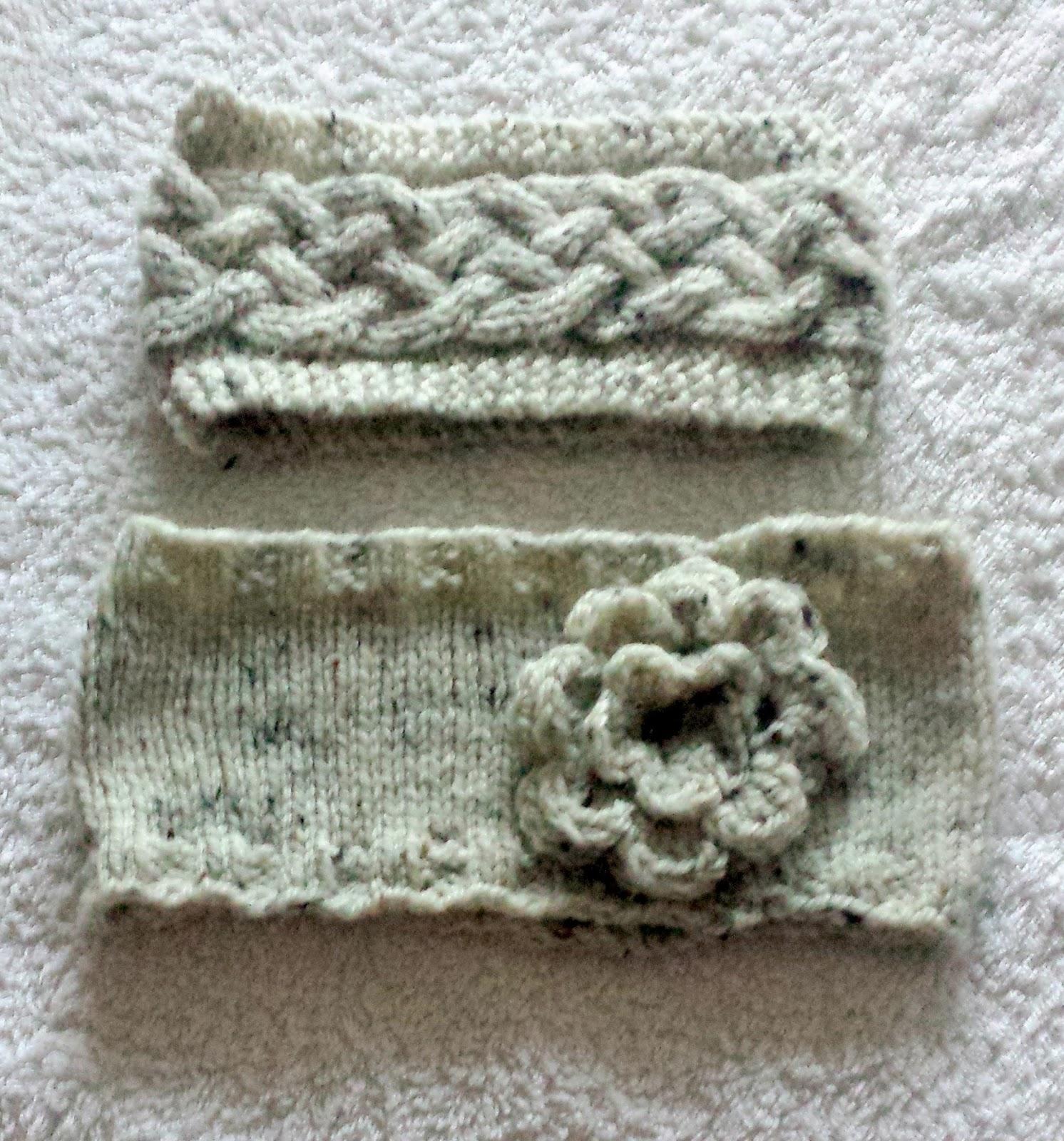 Sophies Knit Stuff: Knitted Headbands: Aran Wool Ear Warmers to Finish O...