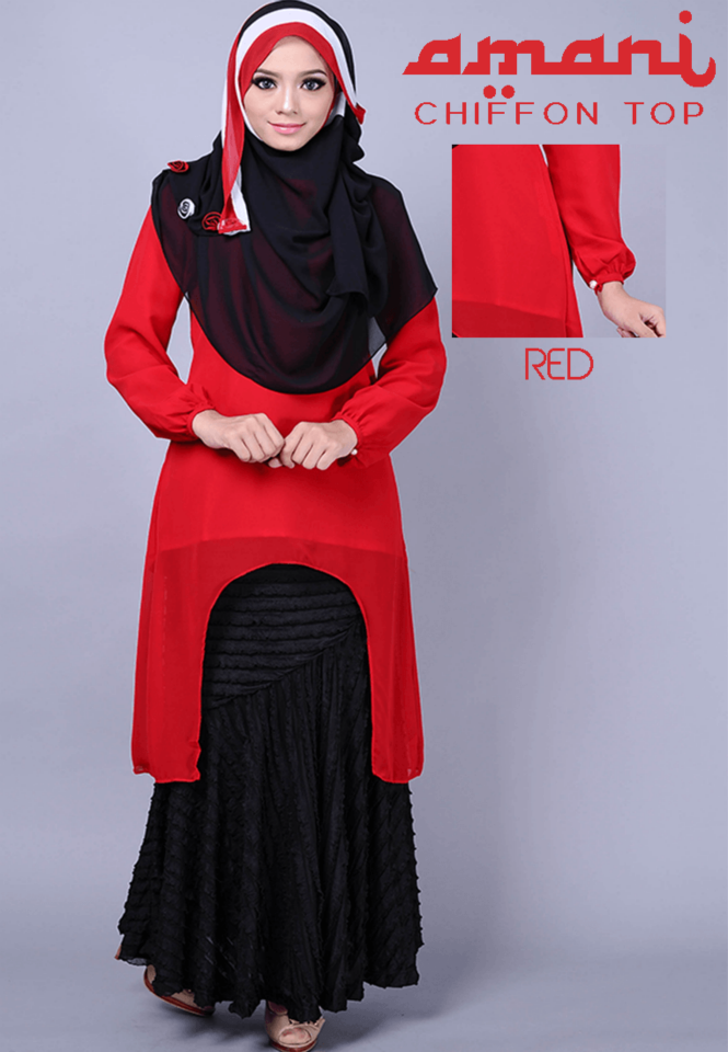 Red Top For Muslim Girls