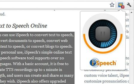 Seleccionar textos de una pagina para leerlos, select and speak