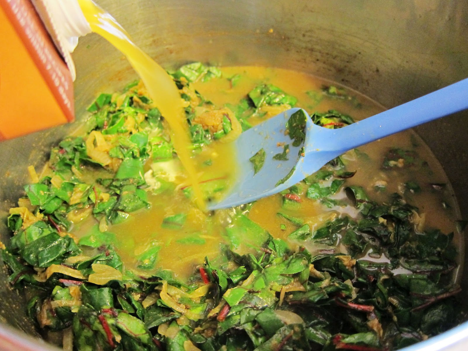 Bloatal Recall: Curried Red Lentil and Swiss Chard Stew ...