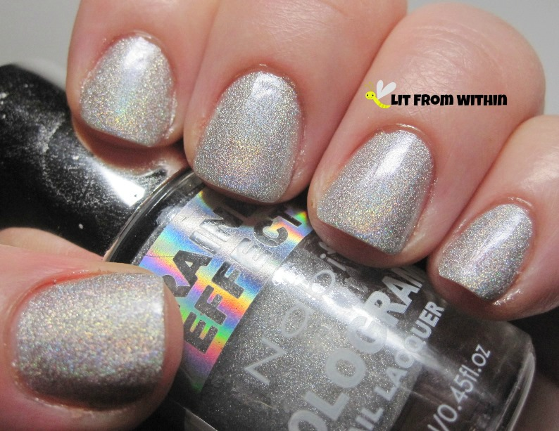 Nabi Silver, a silver holo on the subtle end of the linear spectrum