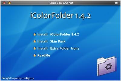 cara mengganti warna folder dengan mudah menggunakan  iColorFolder