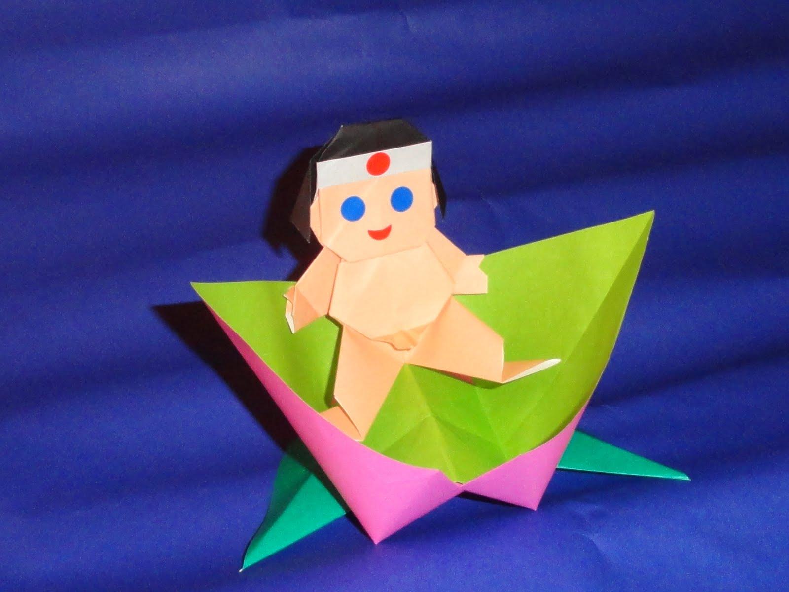 Have Paper Will Travel Momotaro Peach Boy Star Wars Origami Diagrams And Crease Patterns Starwarigami Saturday May 21 2011