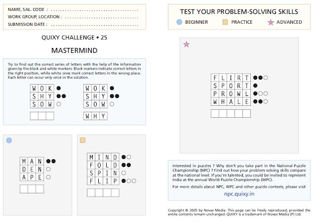 Mastermind Puzzles