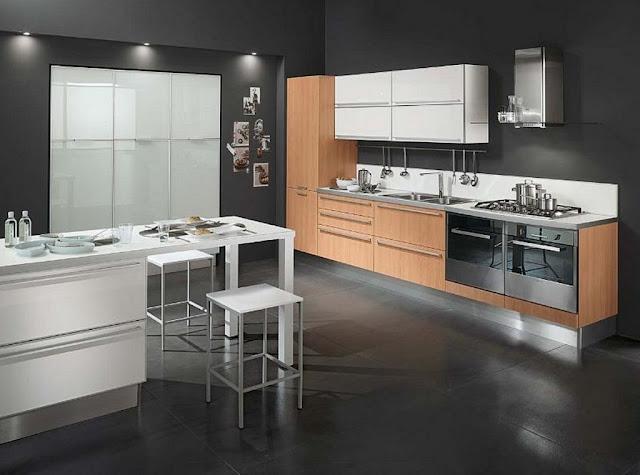 Desain Dapur Minimalis Hitam