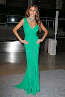 Sofia Vergara looks glamorous in a green gown