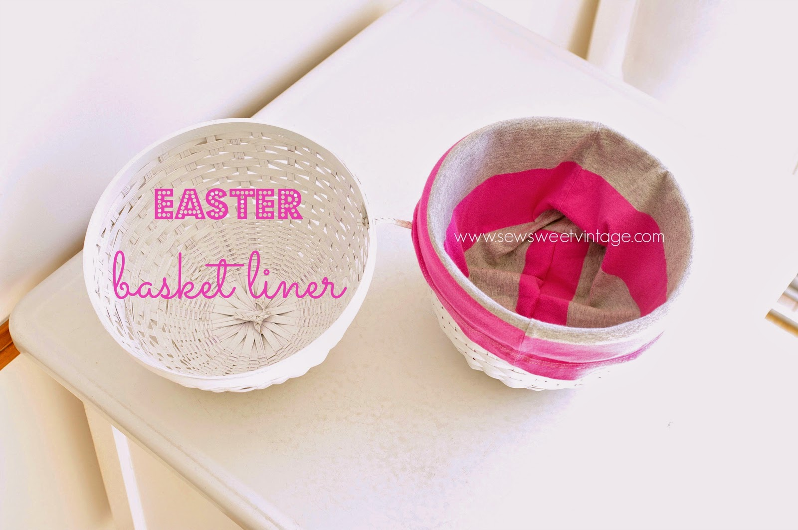 how to spray paint and Easter basket, DIY Easter basket liner from up cycled fabric
