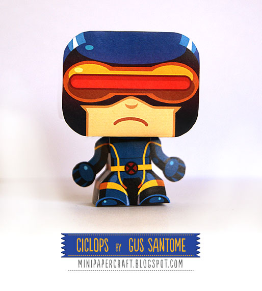 XMen Mini Cycops Paper Toy