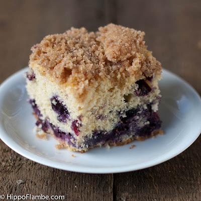 Hippo Flambé: Blueberry Crumb Cake