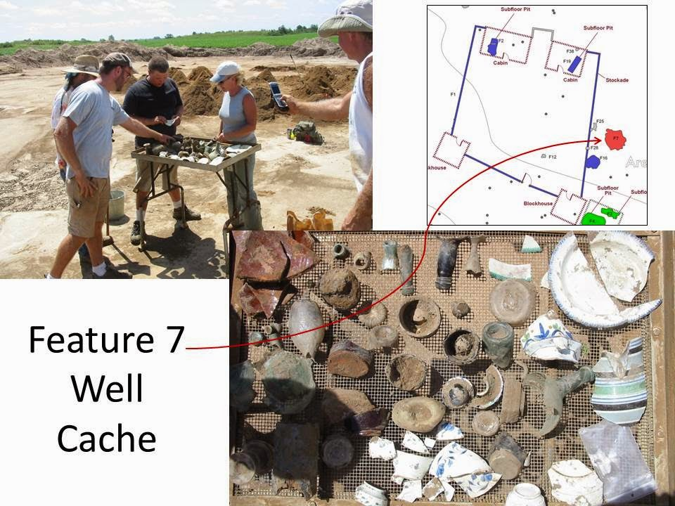 ... Three Quarters Of Which Were Associated With Food Preparation, Storage,  And Service Vessels. The Feature 7 Well Directly East Of The Stockade Was  The ...