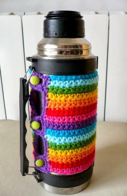 Tejidos Artesanales En Crochet Fundas Tejidas En Crochet Para Termos