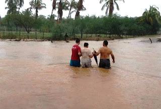 """Rio Cobra em Jardim do Seridó está com """"água de cintura"""""""