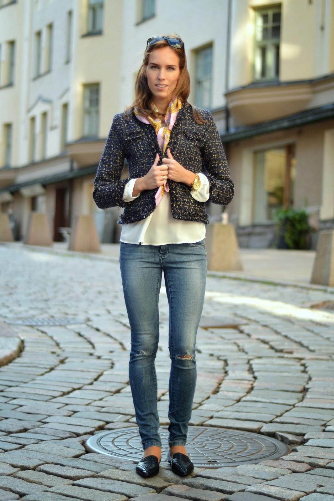 sheinside-jacket-zara-jeans-motivi-scarf