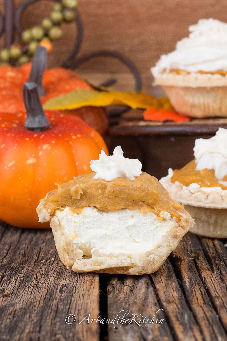 Pumpkin Cheesecake Tarts | Art and the Kitchen