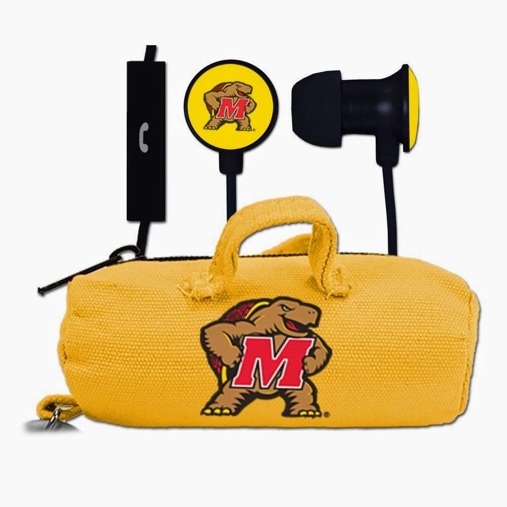 Maryland Terrapins NCAA Earbuds with Budbag