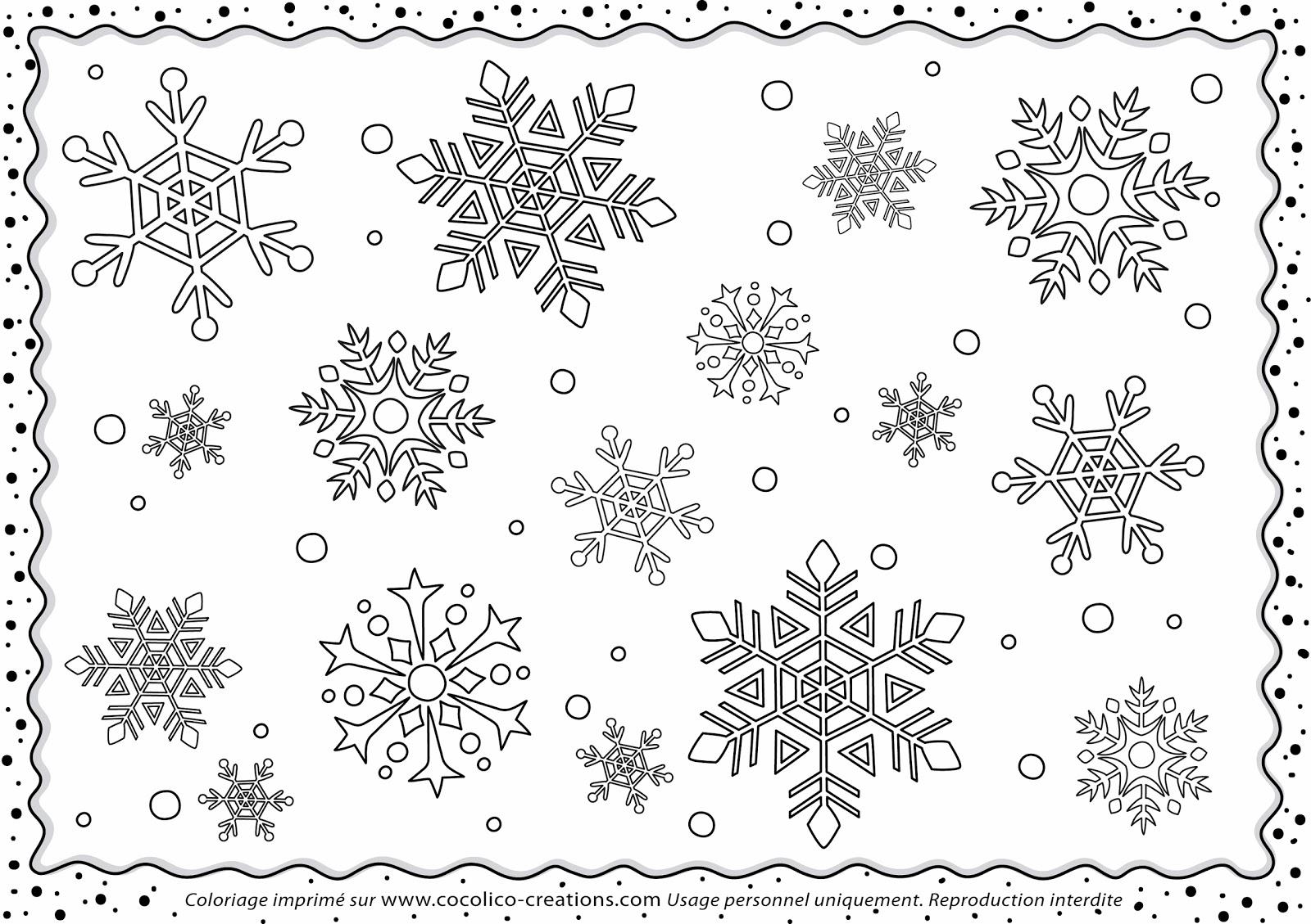 Mercredi Coloriage 20 Flocons de neige