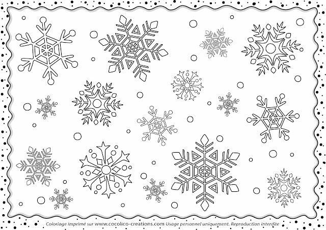 Cocolico creations coloriages - Flocon de neige a colorier ...