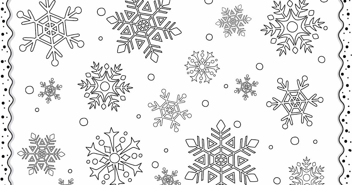 Cocolico creations mercredi coloriage 20 flocons de neige - Dessin flocon de neige simple ...