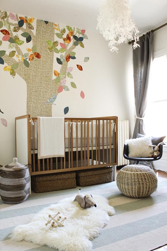 Unisex nursery design : ... : un dormitorio de bebé en tonos neutros [] neutral palette nursery