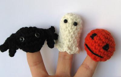 gift present: halloween crochet finger puppets