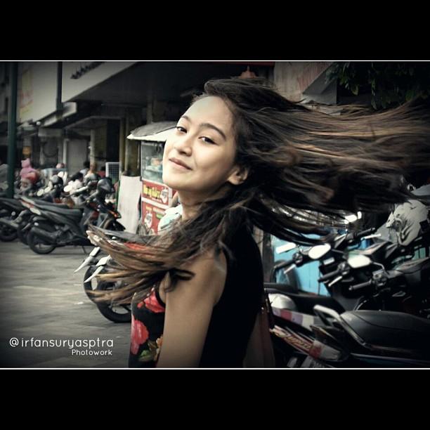 Kibasan rambut Salsha HAHA!!