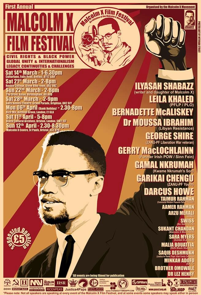 first annual MALCOLM X FILM FESTIVAL - 7 EVENTS IN 6 CITIES!