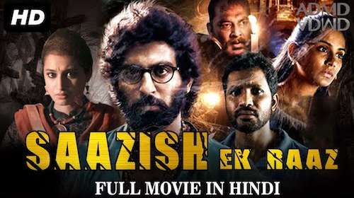 Poster Of Saazish – Ek Raaz In Hindi Dubbed 300MB Compressed Small Size Pc Movie Free Download Only At exp3rto.com