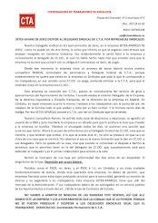 SETEX-APARKI DE JEREZ DESPIDE AL DELEGADO SINDICAL DE C.T.A. POR REPRESALIAS SINDICALES