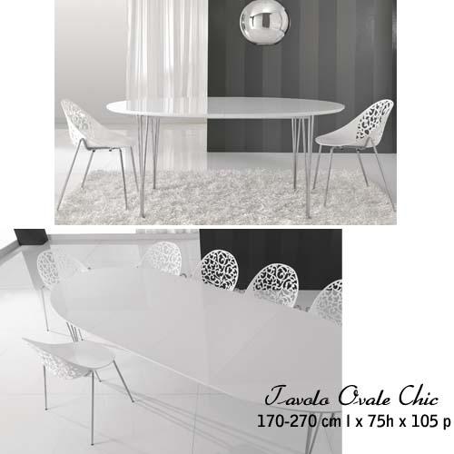La scelta del tavolo allungabile arredamento facile for Tavolo ovale bianco design