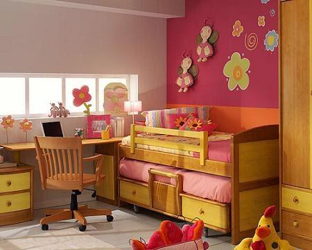 Dormitorios juveniles en espacios peque os decoraci n de for Pintar habitacion juvenil nina
