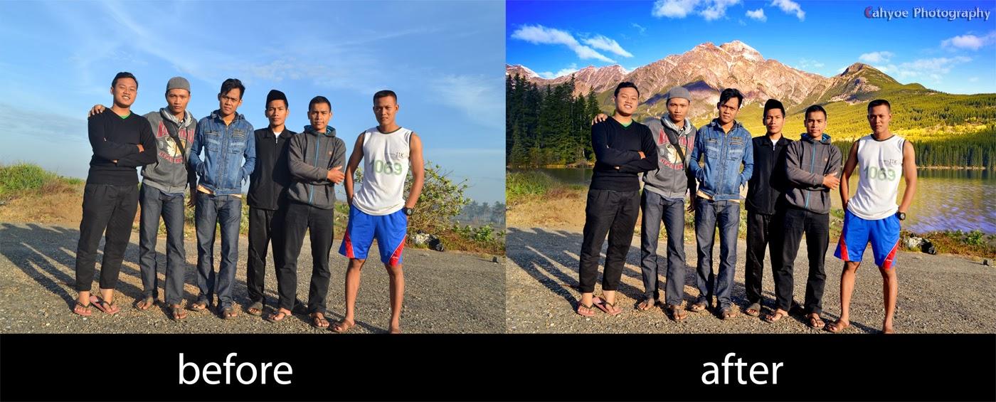 Cahyoe Blog: Cara mengganti background foto dengan ...
