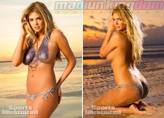 Foto Hot: Model Seksi Kate Upton Tampil Vulgar Untuk Body Painting