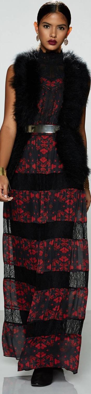 ALICE + OLIVIA Briella Romantic Lace Maxi Dress