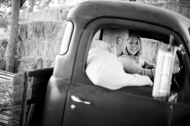 Vintage Truck Engagement Photo