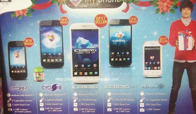 MyPhone Iceberg mini Specs and price, MyPhone Cyclone Specs and price, MyPhone Storm Specs and price